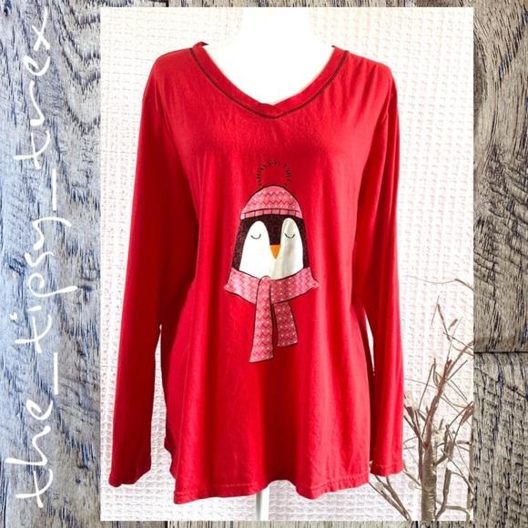 Secret Treasures Penguin Long Sleeve Tee 2X